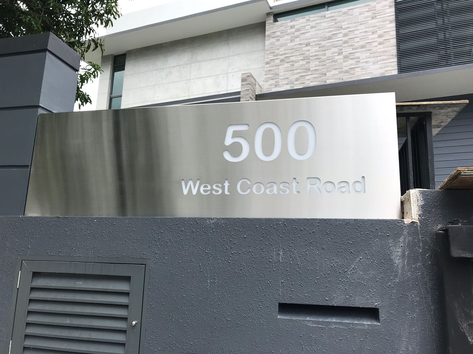 Stainless Steel House Number Light Box